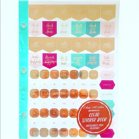 Target Other - Target Clear Planner Binder Sticker Book Green